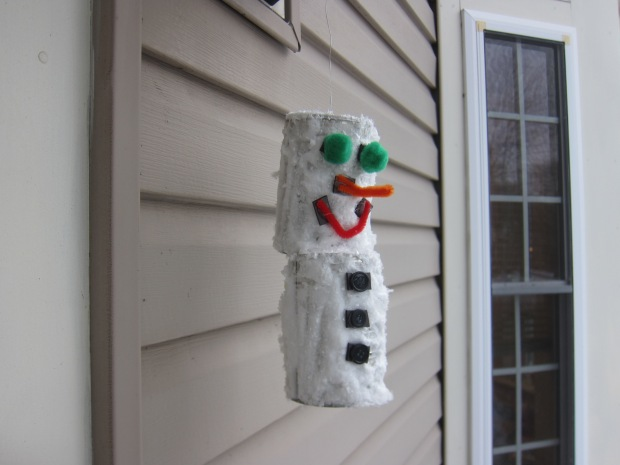 Snowman from Tin Cans (12)