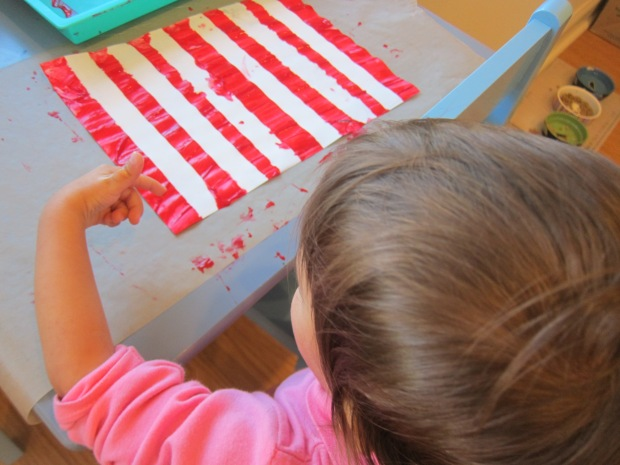 Tape Resist Candy Cane (4)
