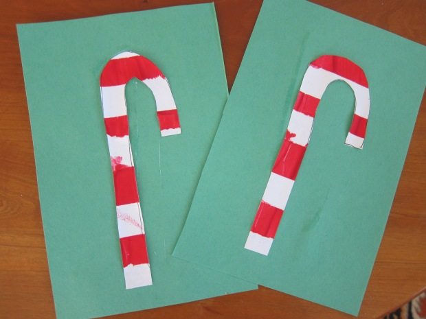 Tape Resist Candy Cane (6)