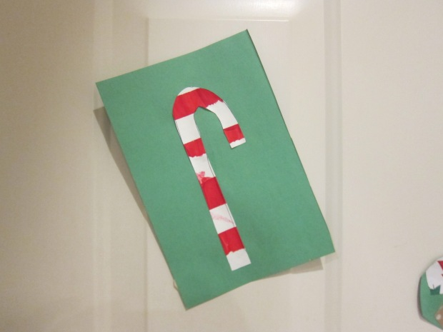 Tape Resist Candy Cane (7)