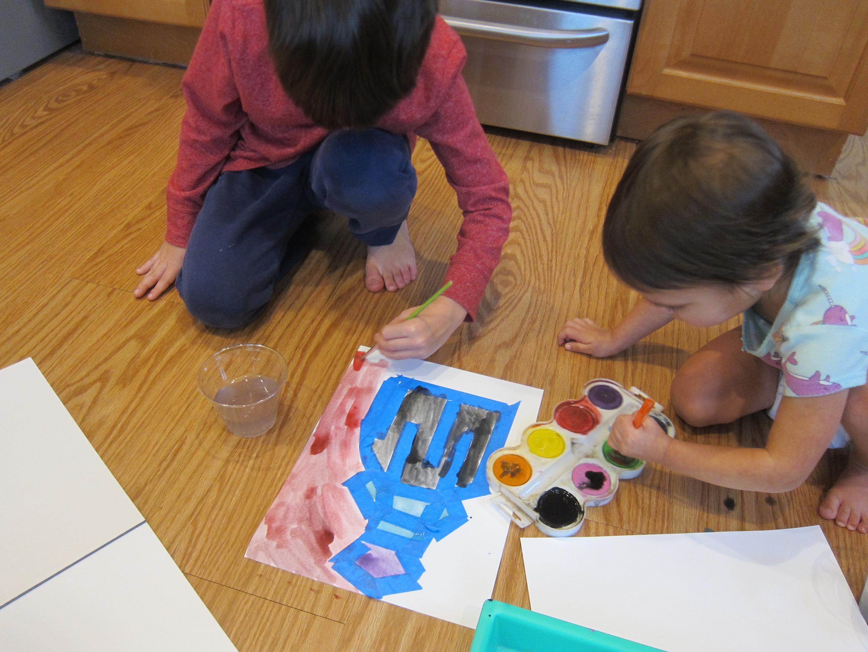 Watercolor & Painter's Tape (5)