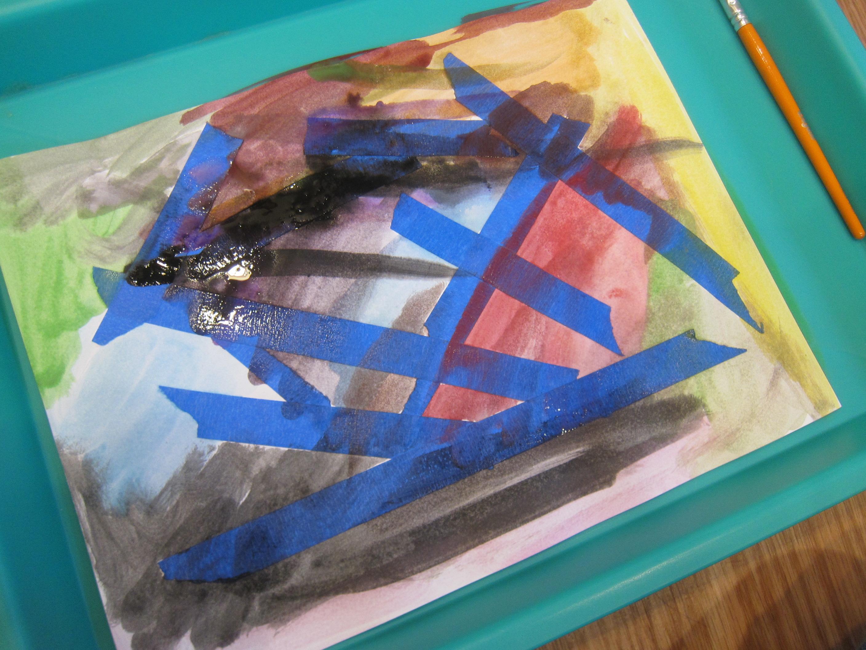 Watercolor & Painter's Tape (6)
