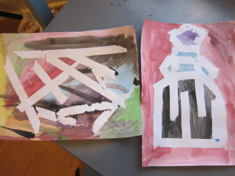 Watercolor & Painter's Tape (8)