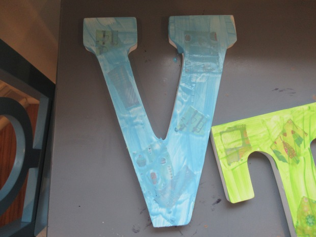 Textured Painted Letter (6)