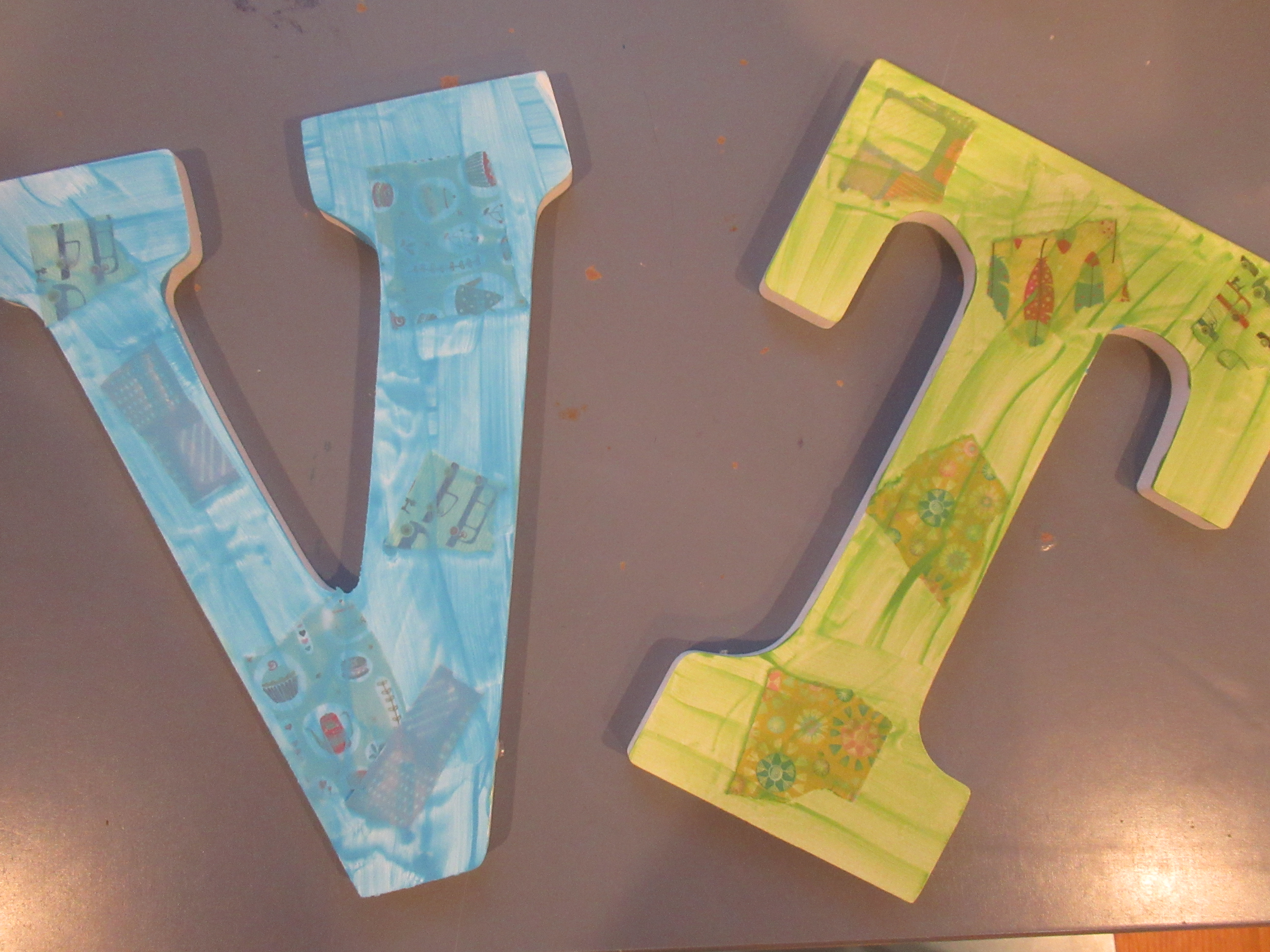 Textured Painted Letter (7)