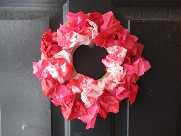 Valentine's Tissue Wreath (5)