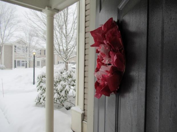 Valentine's Tissue Wreath (6)