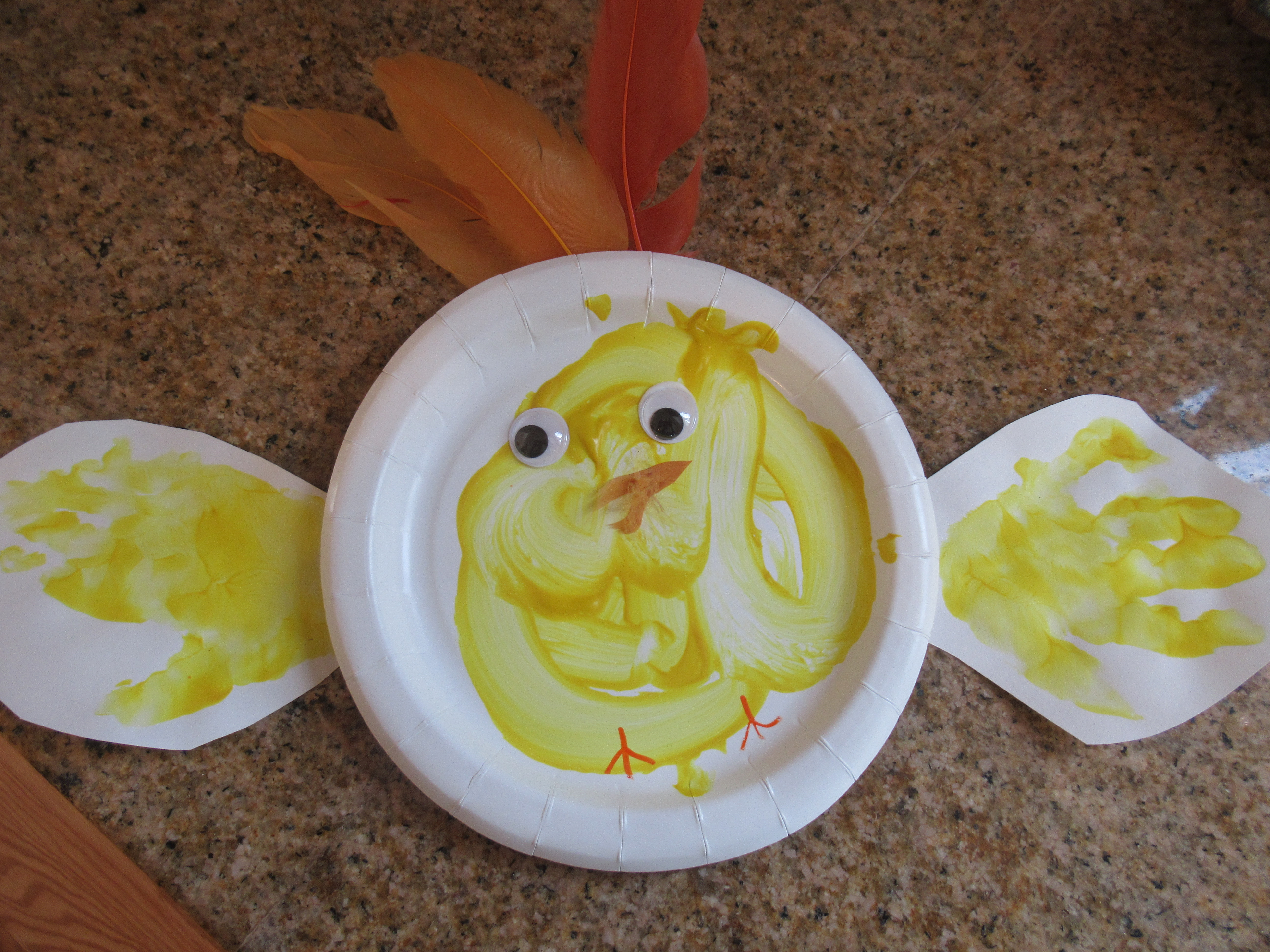 Paper Plate Chick (5)