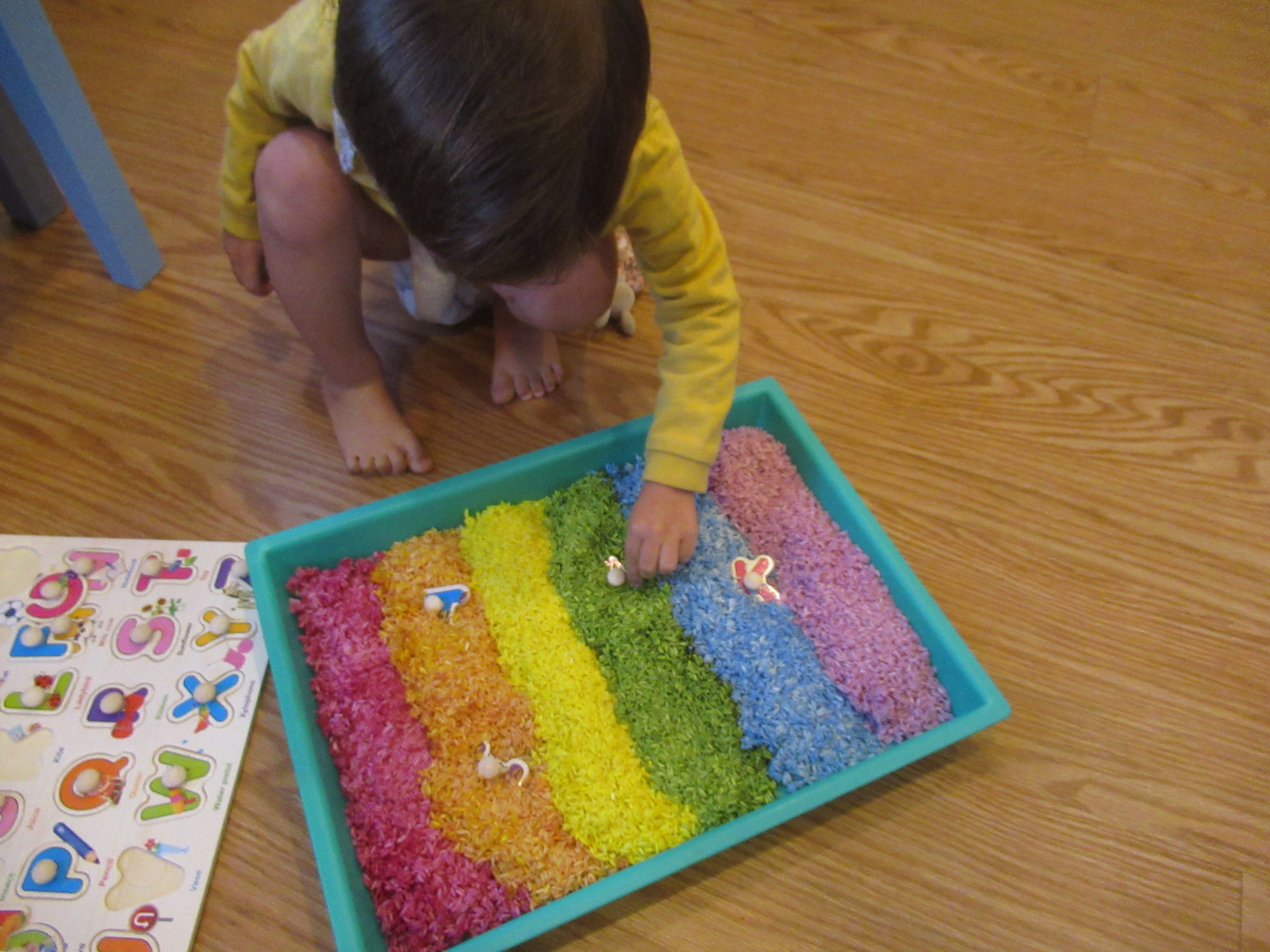 Rainbow Rice Letter Tray (3)