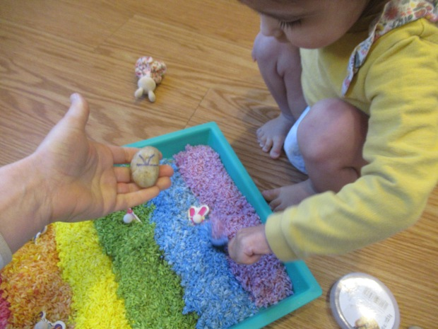 Rainbow Rice Letter Tray (4)