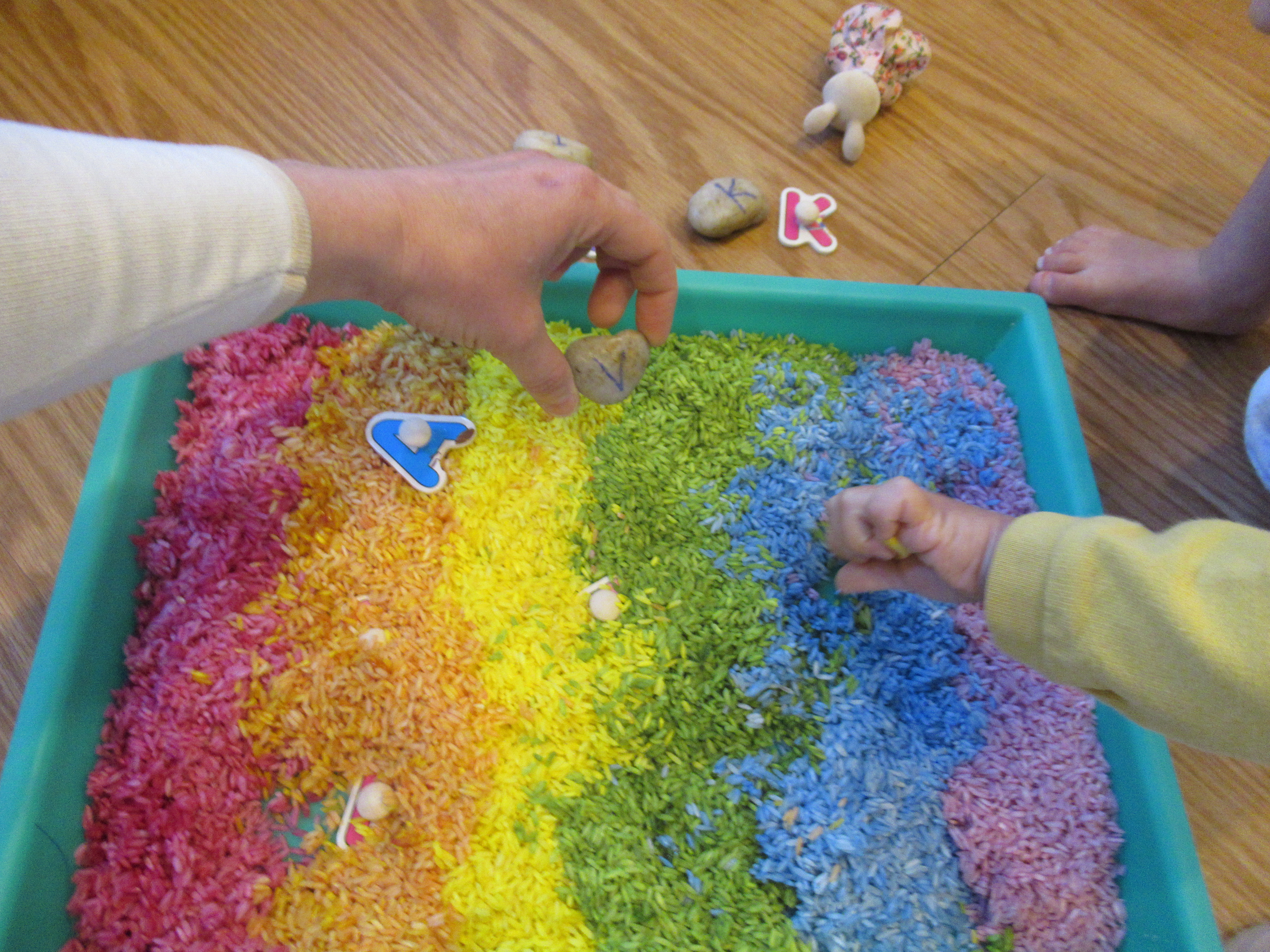Rainbow Rice Letter Tray (6)