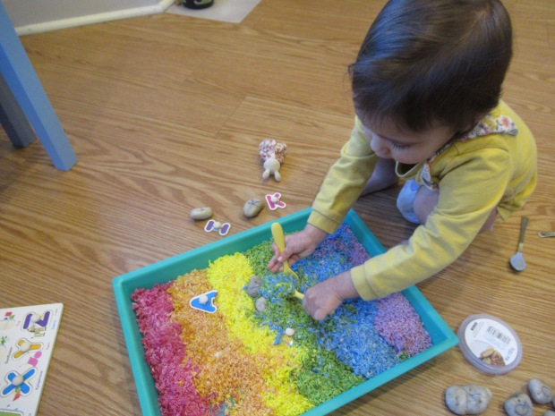 Rainbow Rice Letter Tray (7)