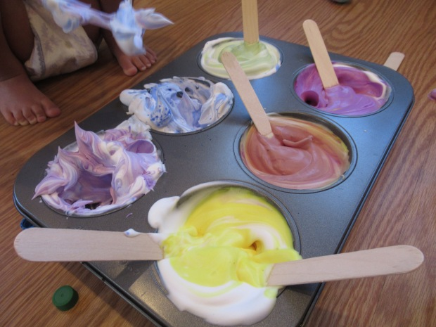 Shaving Cream Rainbows (1)