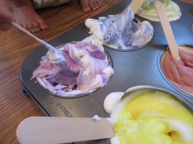 Shaving Cream Rainbows (5)