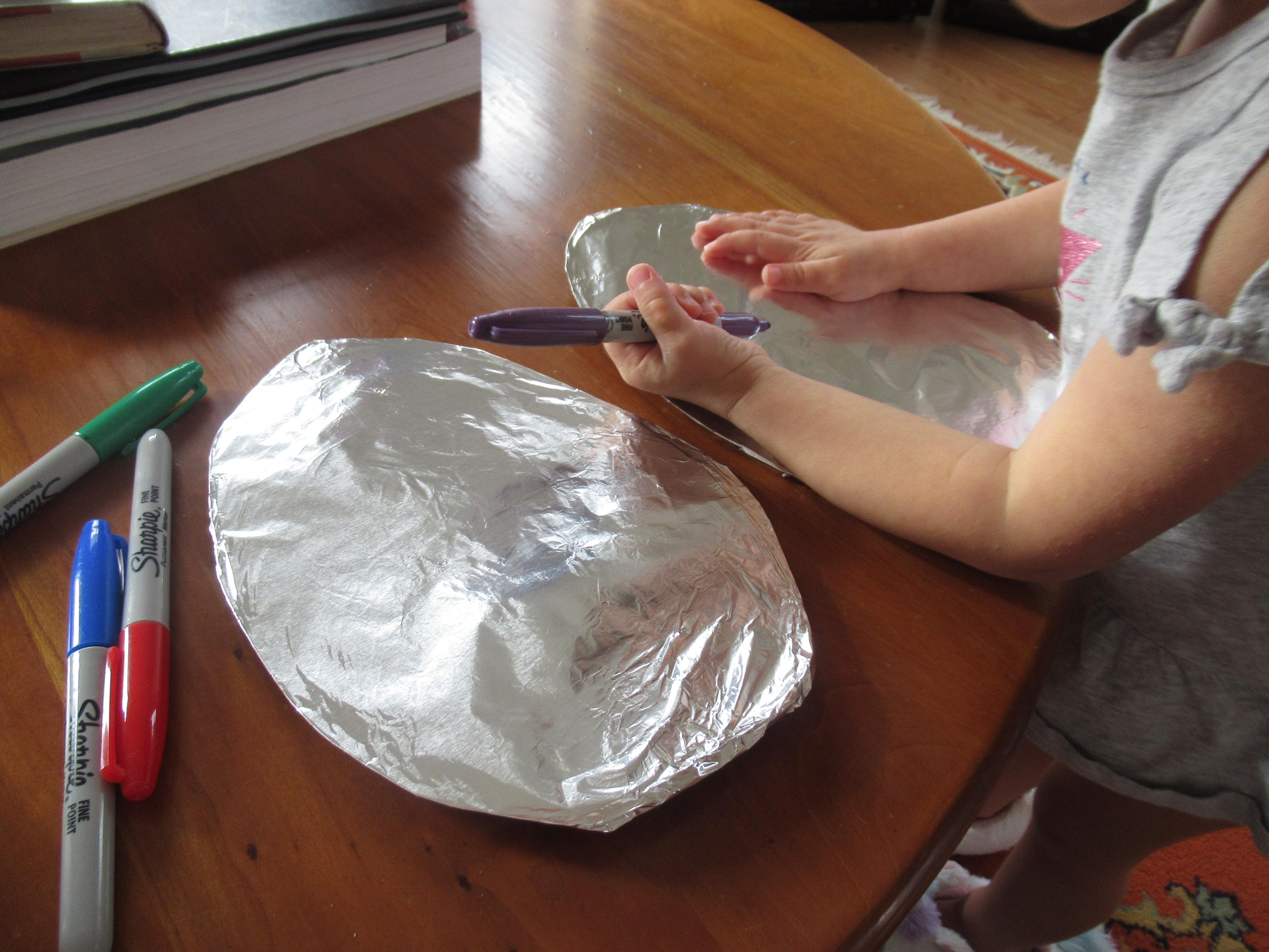 Tin Foil Easter Egg (2)