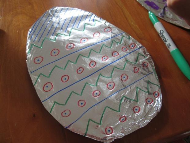 Tin Foil Easter Egg (6)