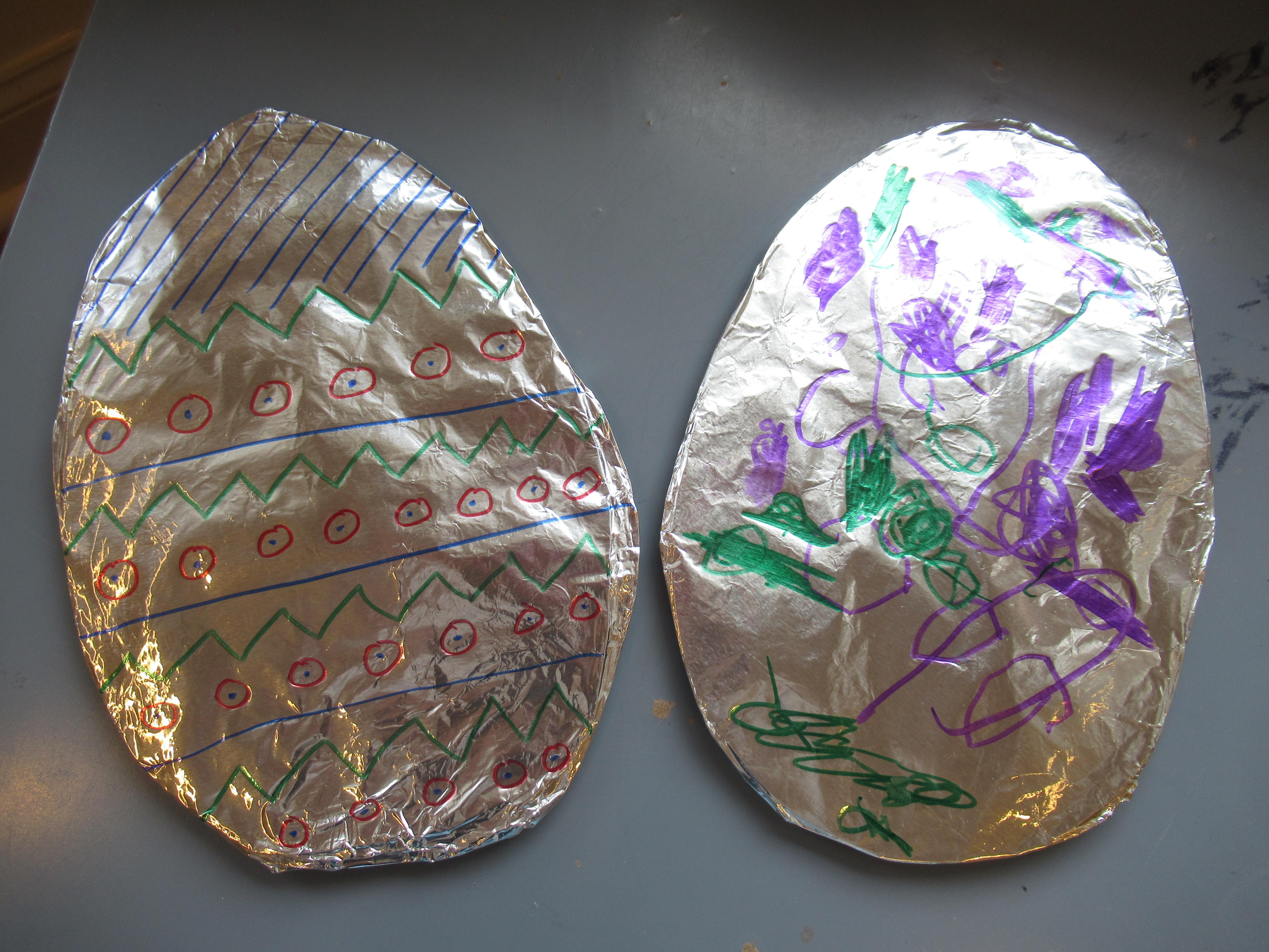 Tin Foil Easter Egg (8)