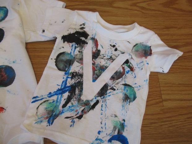 Toddler Painted T Shirt var
